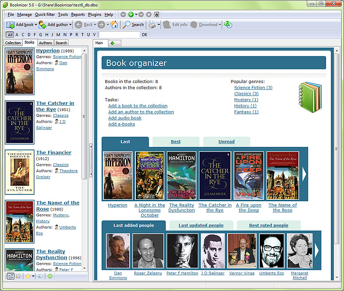 Screenshot of Booknizer 8.0